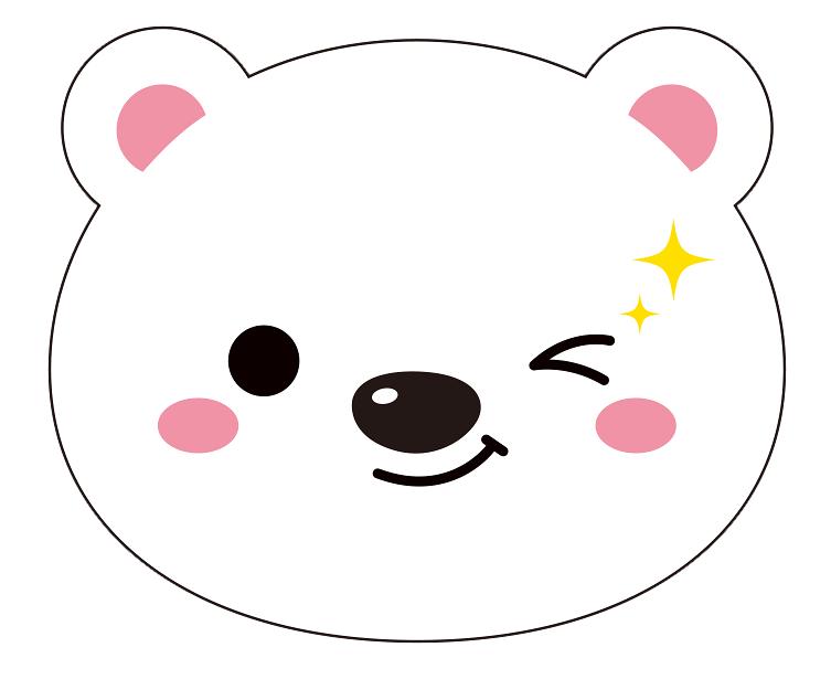 紙うちわ 動物(パンダ・たぬき)デザインテンプレート0020