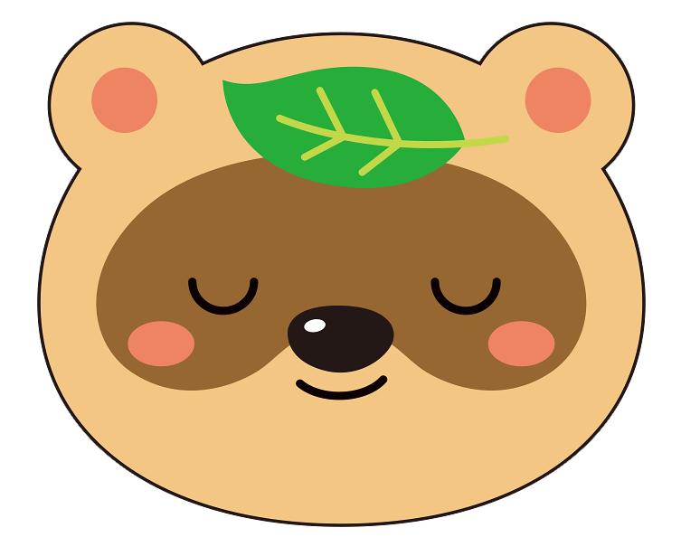 紙うちわ 動物(パンダ・たぬき)デザインテンプレート0021