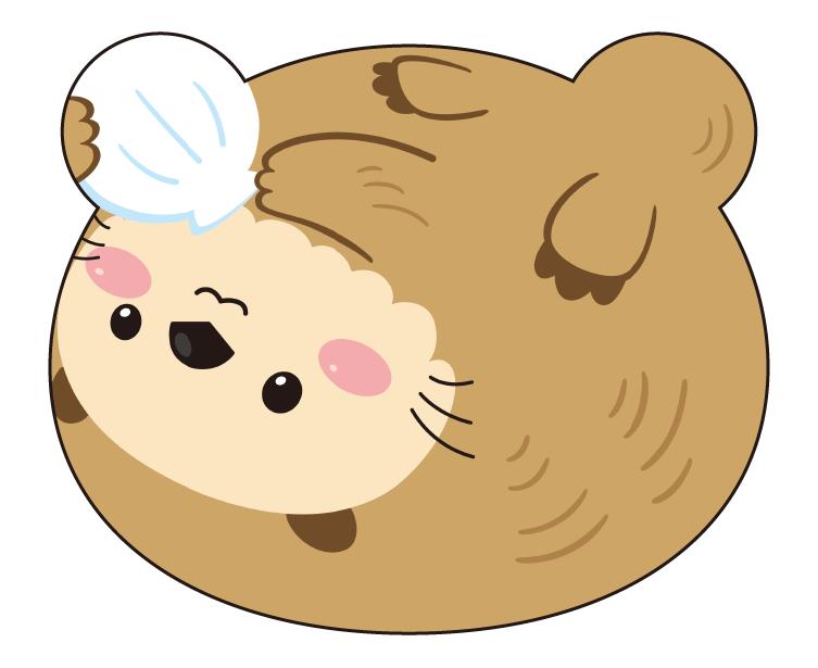 紙うちわ 動物(パンダ・たぬき)デザインテンプレート0084
