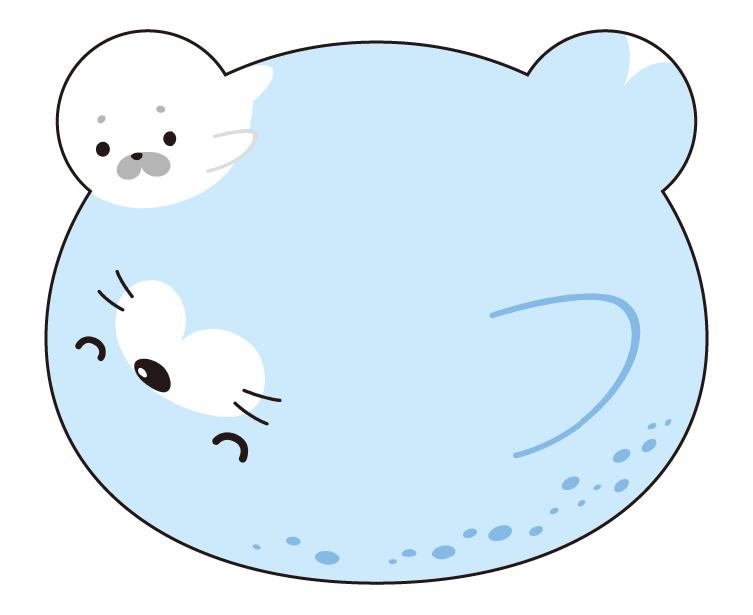 紙うちわ 動物(パンダ・たぬき)デザインテンプレート0085