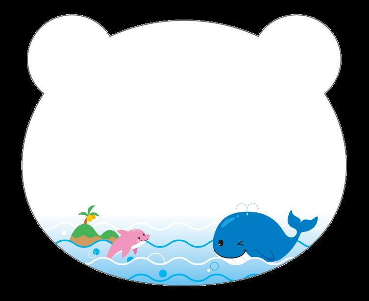 紙うちわ 動物(パンダ・たぬき)デザインテンプレート0229