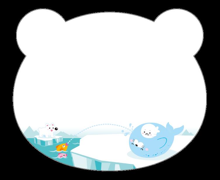 紙うちわ 動物(パンダ・たぬき)デザインテンプレート0230