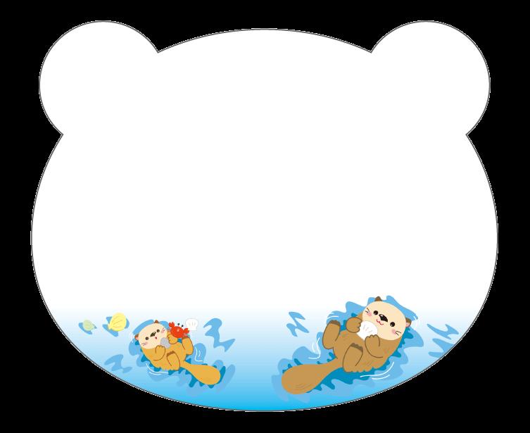 紙うちわ 動物(パンダ・たぬき)デザインテンプレート0231