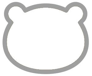 紙うちわ(無地・動物)デザインテンプレート0022