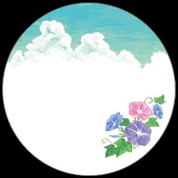 紙うちわ(丸型)デザインテンプレート0126