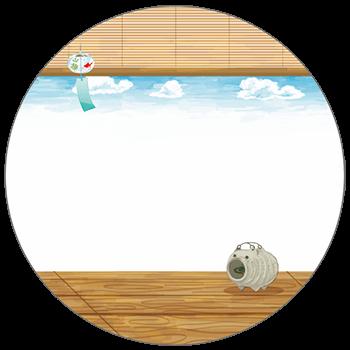紙うちわ(丸型)デザインテンプレート0131