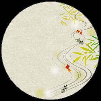 紙うちわ(丸型)デザインテンプレート0136