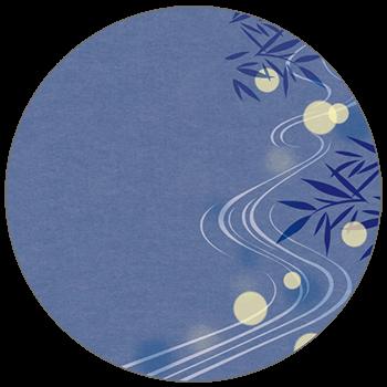 紙うちわ(丸型)デザインテンプレート0137