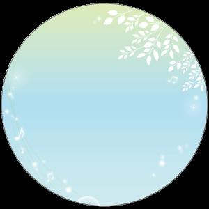 紙うちわ(丸型)デザインテンプレート0246