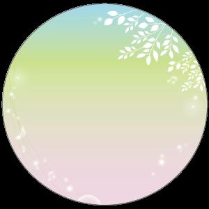 紙うちわ(丸型)デザインテンプレート0247
