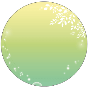 紙うちわ(丸型)デザインテンプレート0248