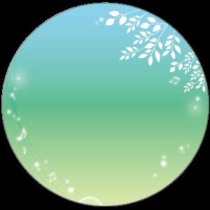 紙うちわ(丸型)デザインテンプレート0249