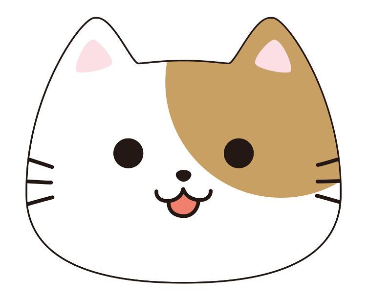 紙うちわ (動物)デザインテンプレート0028