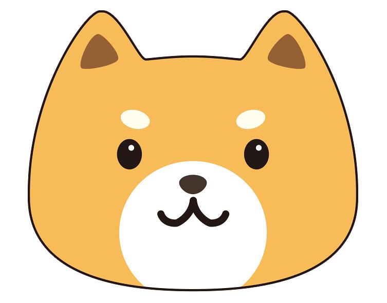 紙うちわ (動物)デザインテンプレート0029