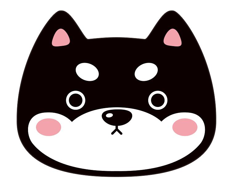 紙うちわ (動物)デザインテンプレート0030