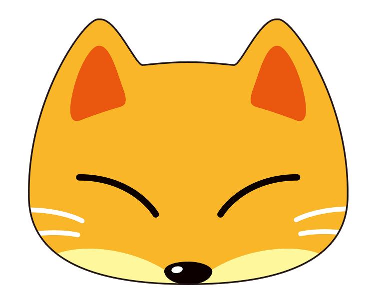 紙うちわ (動物)デザインテンプレート0034