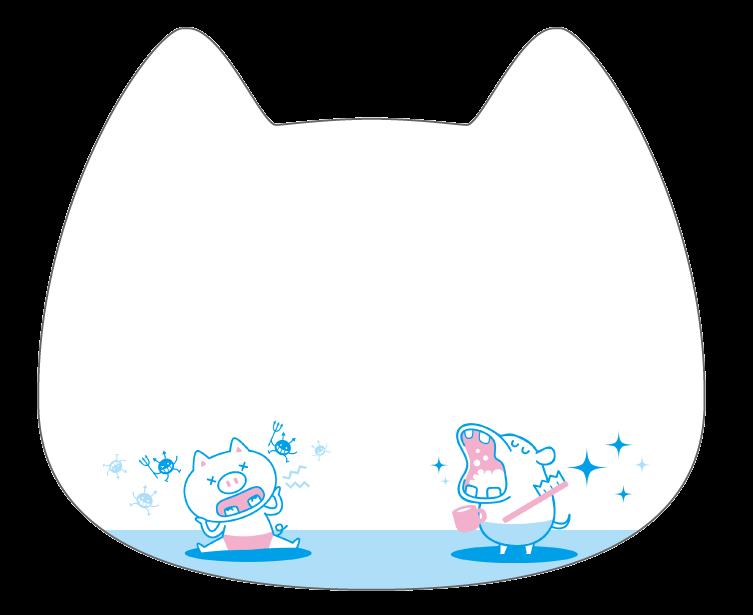 紙うちわ (動物)デザインテンプレート0236