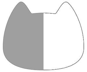 紙うちわ 動物(無地)デザインテンプレート0027