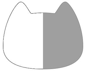 紙うちわ 動物(無地)デザインテンプレート0028