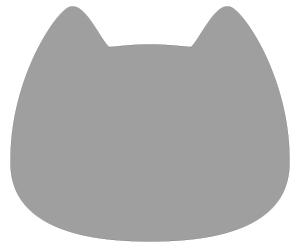 紙うちわ 動物(無地)デザインテンプレート0029