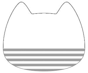 紙うちわ 動物(無地)デザインテンプレート0032