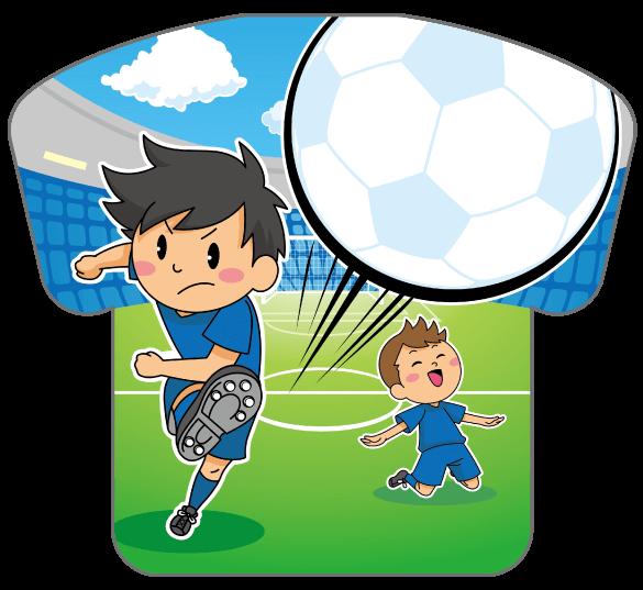 紙うちわ(サッカー)デザインテンプレート0170