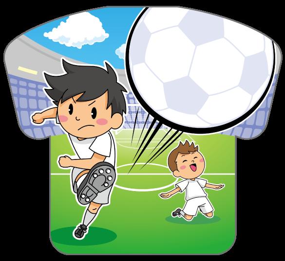 紙うちわ(サッカー)デザインテンプレート0171