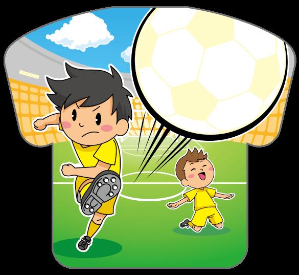 紙うちわ(サッカー)デザインテンプレート0173