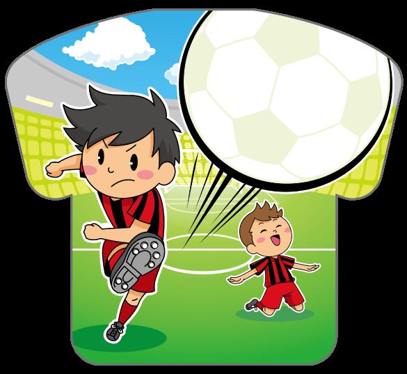 紙うちわ(サッカー)デザインテンプレート0176