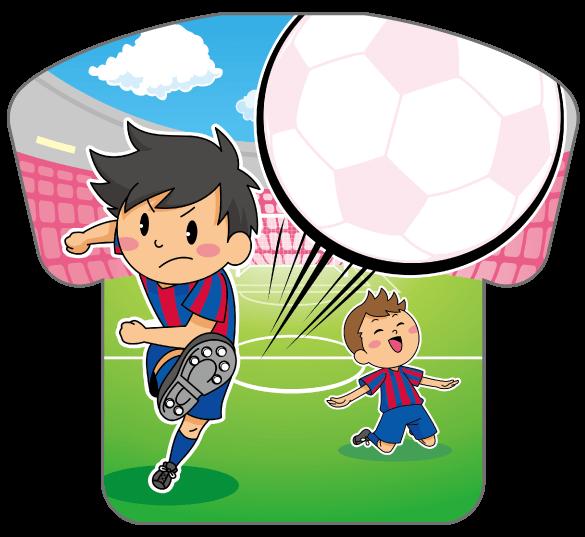 紙うちわ(サッカー)デザインテンプレート0177
