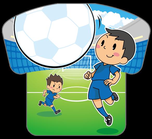 紙うちわ(サッカー)デザインテンプレート0178