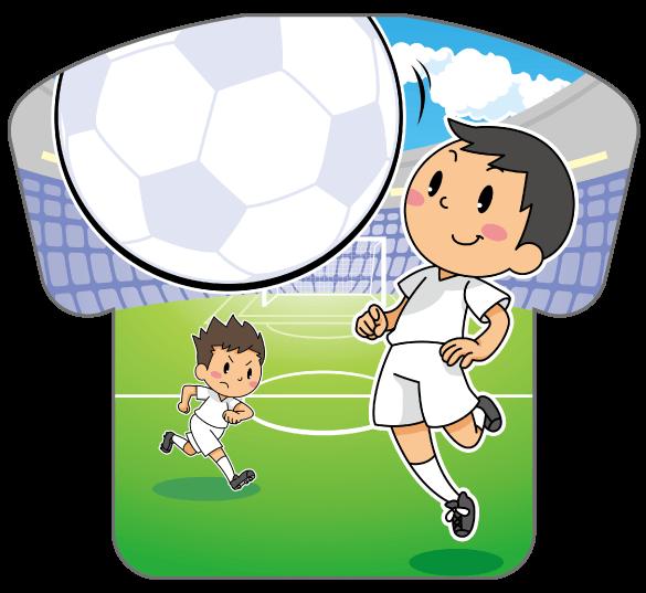紙うちわ(サッカー)デザインテンプレート0179