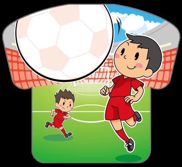 紙うちわ(サッカー)デザインテンプレート0180
