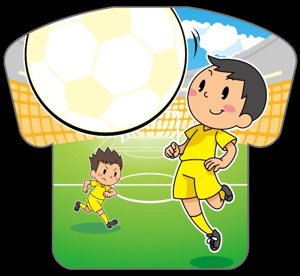 紙うちわ(サッカー)デザインテンプレート0181