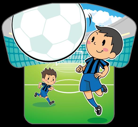 紙うちわ(サッカー)デザインテンプレート0182