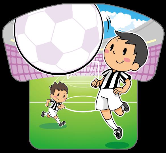 紙うちわ(サッカー)デザインテンプレート0183