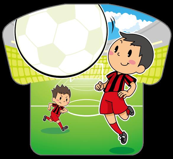 紙うちわ(サッカー)デザインテンプレート0184