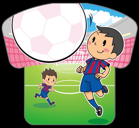 紙うちわ(サッカー)デザインテンプレート0185