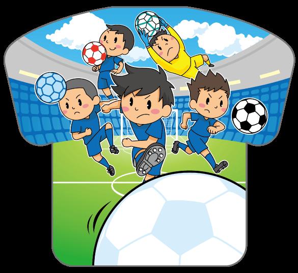 紙うちわ(サッカー)デザインテンプレート0186