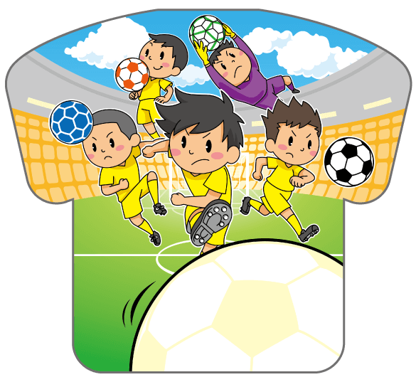 紙うちわ(サッカー)デザインテンプレート0189