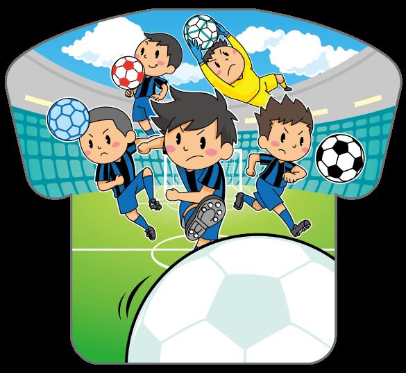 紙うちわ(サッカー)デザインテンプレート0190