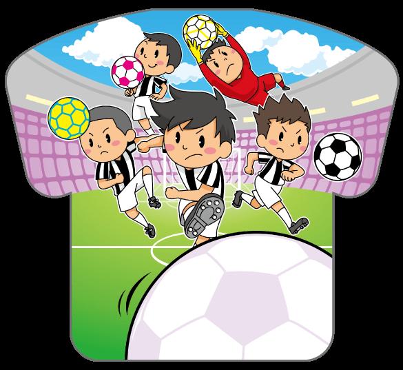 紙うちわ(サッカー)デザインテンプレート0191