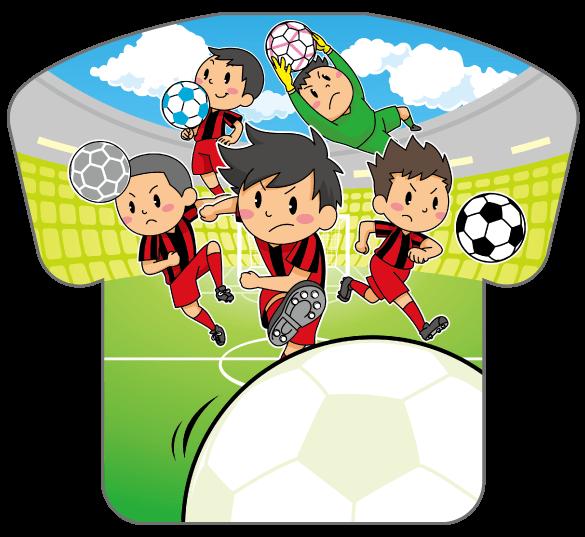 紙うちわ(サッカー)デザインテンプレート0192