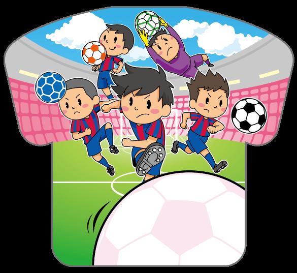 紙うちわ(サッカー)デザインテンプレート0193